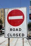 Δρόμος κλειστός Στοκ εικόνα με δικαίωμα ελεύθερης χρήσης