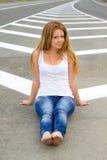 δρόμος κοριτσιών Στοκ εικόνα με δικαίωμα ελεύθερης χρήσης