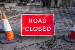 Δρόμος κλειστός Στοκ φωτογραφία με δικαίωμα ελεύθερης χρήσης