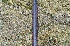 Δρόμος μέσω της λάβας Στοκ φωτογραφία με δικαίωμα ελεύθερης χρήσης