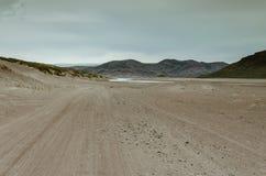 Δρόμος μέσω της ερήμου προς Greenlandic icecap θορίου, Sandflugtdalen, Γροιλανδία στοκ φωτογραφίες με δικαίωμα ελεύθερης χρήσης