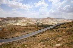 Δρόμος μέσω της ερήμου Negev στο Ισραήλ Στοκ Εικόνες
