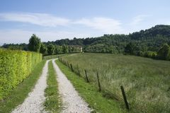 Δρόμος μέσω της ιταλικής επαρχίας Στοκ Φωτογραφίες