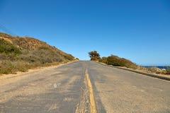 Δρόμος μέσω των λόφων σε Malibu Στοκ φωτογραφία με δικαίωμα ελεύθερης χρήσης