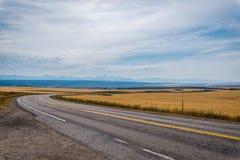 Δρόμος μεταξύ του αγρότη fileds Στοκ εικόνες με δικαίωμα ελεύθερης χρήσης