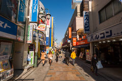 Δρόμος με έντονη κίνηση σε Kawagoe, Ιαπωνία Στοκ Φωτογραφία
