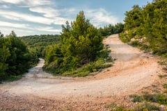 Δρόμος με πολλ'ες στροφές στην ελληνική επαρχία Στοκ φωτογραφίες με δικαίωμα ελεύθερης χρήσης