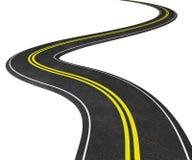 Δρόμος με πολλ'ες στροφές στο λευκό - τρισδιάστατη απεικόνιση Στοκ φωτογραφία με δικαίωμα ελεύθερης χρήσης