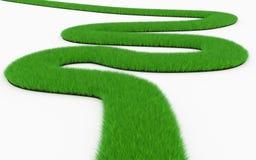 Δρόμος με πολλ'ες στροφές χλόης απεικόνιση αποθεμάτων