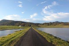 Δρόμος με το νερό Στοκ Εικόνες