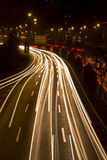δρόμος νύχτας πόλεων Στοκ Εικόνες