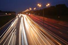 δρόμος νύχτας Στοκ Φωτογραφία