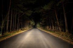Δρόμος νύχτας Στοκ Φωτογραφίες
