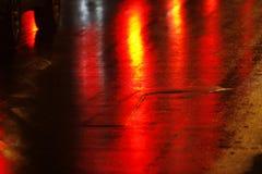 δρόμος νύχτας Στοκ Εικόνες