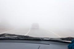 Δρόμος ομίχλης Στοκ Εικόνες