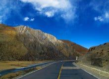 Δρόμος οροπέδιων του Θιβέτ Στοκ Φωτογραφία