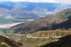 Δρόμος ουρανού στο Θιβέτ Στοκ Φωτογραφίες