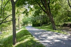 Δρόμος πάρκων μια ηλιόλουστη ημέρα Στοκ Εικόνες