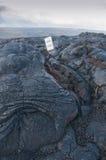 Δρόμος που κλείνουν ΗΠΑ λόγω της ροής λάβας στη Χαβάη, Στοκ εικόνες με δικαίωμα ελεύθερης χρήσης