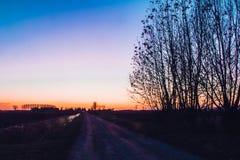 Δρόμος που οδηγεί στο nothng στοκ εικόνες