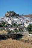 Άσπρο χωριό, Ardales, Ανδαλουσία. Στοκ Φωτογραφία