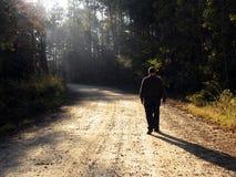 δρόμος που περπατά επάνω Στοκ Εικόνες