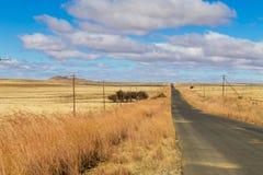 Δρόμος προοπτικής από το πορτοκαλί ελεύθερο κράτος, Νότια Αφρική Στοκ Φωτογραφία