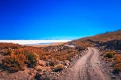 Δρόμος προς Salar de Uyuni Στοκ Φωτογραφίες