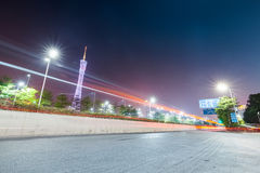 Δρόμος πόλεων στο guangzhou τη νύχτα Στοκ Εικόνες