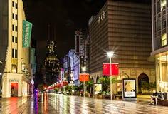 Δρόμος Σαγκάη Κίνα του Ναντζίνγκ Στοκ εικόνα με δικαίωμα ελεύθερης χρήσης