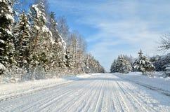Δρόμος σε μια επαρχία Στοκ Φωτογραφία