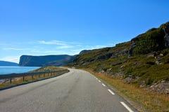 Δρόμος σε Nordcapp Στοκ Εικόνες