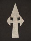 Δρόμος σημαδιών βελών Grunge Στοκ φωτογραφία με δικαίωμα ελεύθερης χρήσης