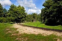 δρόμος σιδηροδρόμων πάρκω&nu Στοκ φωτογραφία με δικαίωμα ελεύθερης χρήσης
