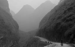 Δρόμος στα βουνά εκταρίου Giang, βόρειο Βιετνάμ Στοκ Φωτογραφία