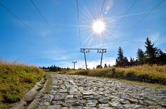 Δρόμος στα βουνά Στοκ Φωτογραφία