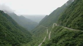 Δρόμος στα βουνά απόθεμα βίντεο