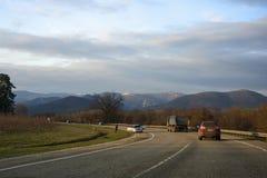 Δρόμος στα βουνά Στοκ Εικόνες