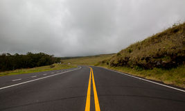 Δρόμος στα σύννεφα Στοκ Εικόνες
