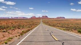 Δρόμος στην έρημο της Αριζόνα Στοκ Φωτογραφία
