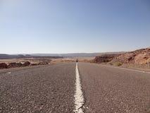 Δρόμος στην έρημο Στοκ Εικόνες