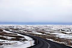 Δρόμος στην Ισλανδία στοκ εικόνα με δικαίωμα ελεύθερης χρήσης