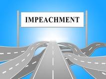 Δρόμος στην κατηγορία για να απομακρύνει το διεφθαρμένο Πρόεδρο ή τον πολιτικό διανυσματική απεικόνιση