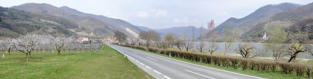 Δρόμος στην κοιλάδα Δούναβη την άνοιξη Στοκ φωτογραφία με δικαίωμα ελεύθερης χρήσης