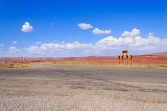 Δρόμος στην προοπτική, εθνική οδός της Αριζόνα, Ηνωμένες Πολιτείες της Αμερικής Στοκ φωτογραφία με δικαίωμα ελεύθερης χρήσης