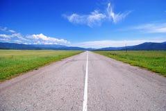 Δρόμος στις στέπες Uimon στοκ φωτογραφία