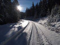 Δρόμος στον ουρανό Στοκ εικόνες με δικαίωμα ελεύθερης χρήσης