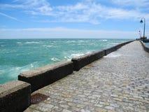 Δρόμος στον ωκεανό, Ατλαντικός Ωκεανός, Καντίζ, Spane στοκ φωτογραφία
