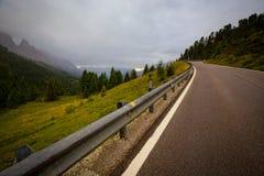 Δρόμος στους δολομίτες Στοκ Φωτογραφία