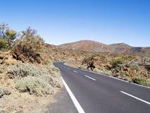 δρόμος στο ηφαίστειο στοκ εικόνες με δικαίωμα ελεύθερης χρήσης